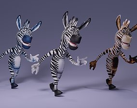 Toon Humanoid Zebra 3D asset animated