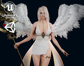 Angel Girl - Game Ready 3D model