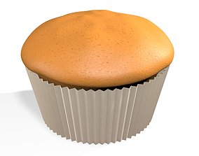 Plain Muffin 3D Model 3D model