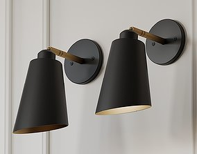 Valmonte 1-Light Armed Sconce by Langley Street 3D model