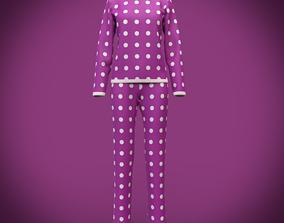 cute pyjamas - polka dots pajamas 3D