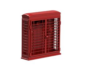 Key Holder - Red Phone Booth 3D print model