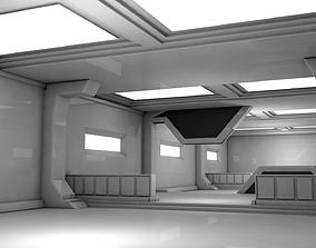 future 3D model VR / AR ready Sci Fi Room