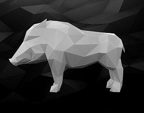 3D Printable Boar Model