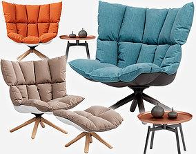 Husk armchair 3D