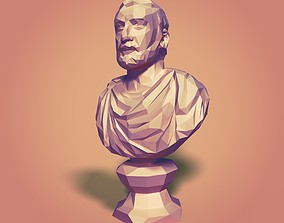 3D model Greek - Roman Politician Bust - LOWPOLY