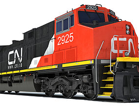 cn Locomotive Canadian National Railway CN 3D