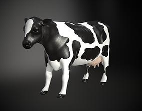 Plastic Cow Figure PBR 3D asset