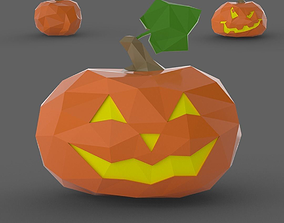 Halloween Pumpkin Low Poly 3D printable model