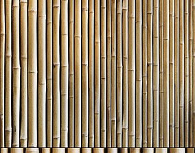 Bamboo wall pattern 3D asset realtime