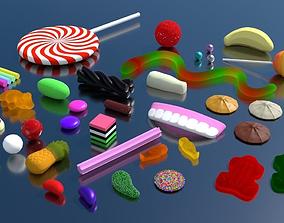 Mixed Lollies 3D model