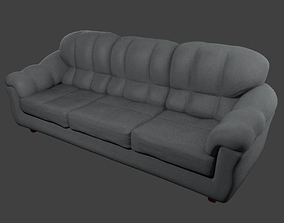 Couch - Grey 3D asset