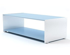 3D White Rectangular Storage Table