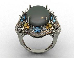 earring Diamond ring 3D print model