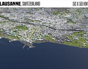 3D model Lausanne Switzerland