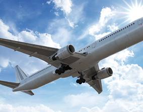 3D model Boeing767-400