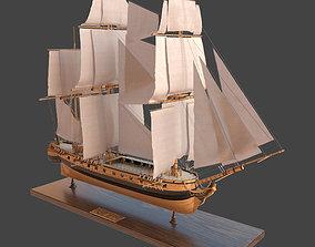 Sailing ship Katrin 3D model PBR