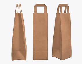3D model Paper bag slim with handle