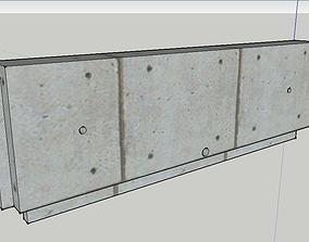3D model RCCB WALLS 2