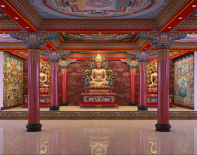 3D Tibetan pagoda Interior