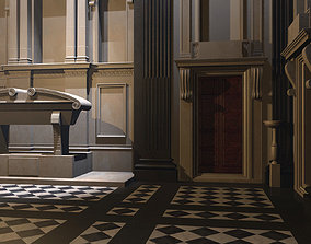 3D model Interior of the New Sacristy of San Lorenzo in 1