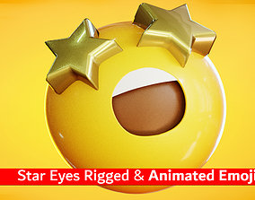 Star Eyes Animated Emoji Reaction 3D model