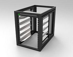 3D model 16RU Systems Rack