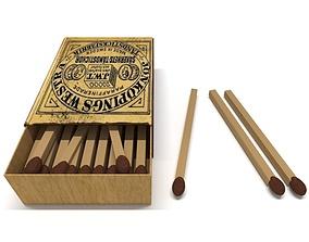 Matches wood 3D model