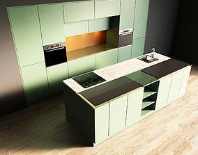 3D model 3-Kitchen3 matte 1
