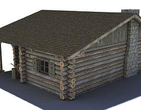 3D model Log Cabin building