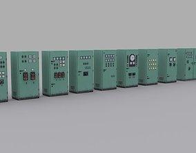 3D asset electrical-panels