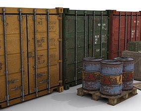 VR / AR ready Cargo Asset Set