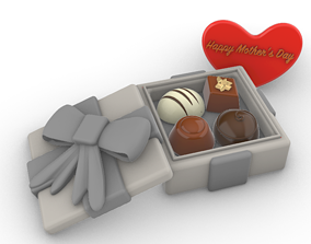 3D printable model chocolate gift box
