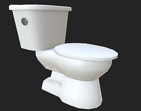 Toilet 3D model realtime