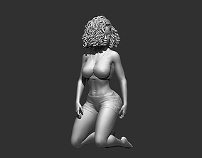 Character figure Woman sit poses 3D model