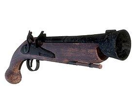Flintstock Pistol 3D asset
