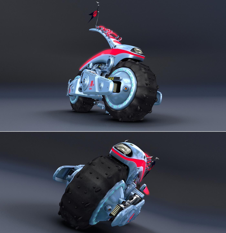 Alienbike renderings with C4D