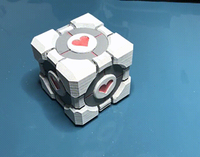Companion Cube Dice Tower 3D print model