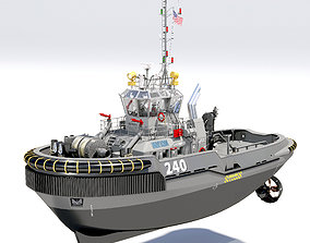 Military Tugboat ASD 3D model