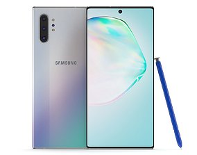 3D Samsung Galaxy Note 10 Plus Aura Glow