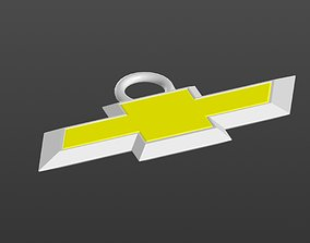 Logo Chevrolet Keychain 3D printable model