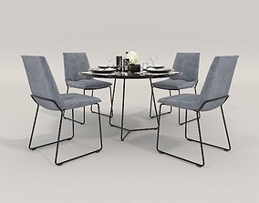 3D Contemporary Design Dining Set 2