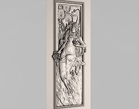 3D print model relief Carved door