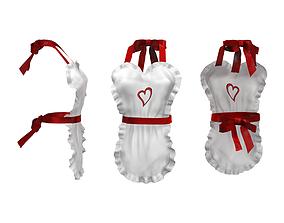 3D asset Heart Apron