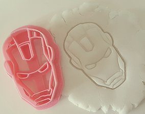 3D printable model Iron Man face cookie cutter