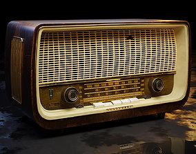 3D Old Antique Radio
