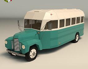 3D model Low Poly Vintage Bus 01