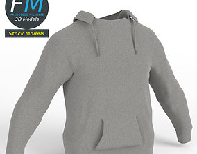 Hooded sweater sweatshirt 3D model