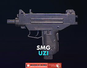 3D model Weapon - Gun - SMG - UZI
