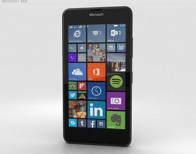 3D model Microsoft Lumia 640 LTE Matte Black
